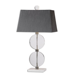 Telesino Crystal Disk One-Light Table Lamp