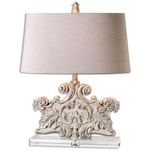 Schiavoni Ivory Stone One-Light Table Lamp