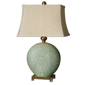 Destin Aquamarine Glaze One-Light Table Lamp