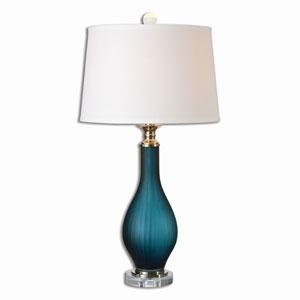 Shavano Midnight Blue Glass One-Light Table Lamp