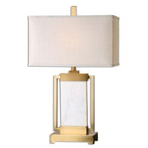 Marnett White Marble One-Light Table Lamp