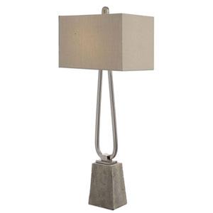 Carugo Polished Nickel One-Light Table Lamp