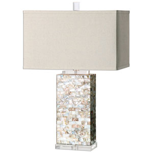 Aden Multicolor Capiz Shell One-Light Table Lamp