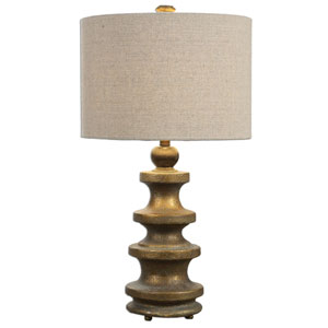 Guadalete Antique Gold One-Light Table Lamp