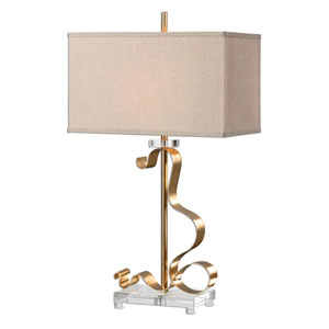 Camarena Bright Gold One-Light Table Lamp