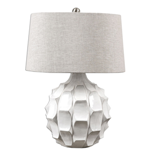 Guerina White One-Light Table Lamp