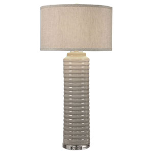 Yana Warm Ivory One-Light Cylinder Table Lamp