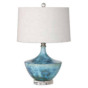 Chasida Blue One-Light Ceramic Lamp