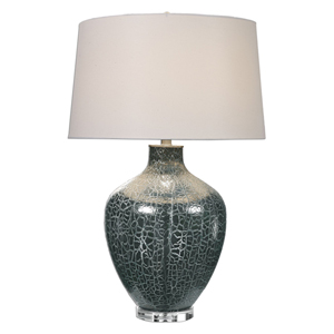 Zumpano Crackled Gray One-Light Table Lamp