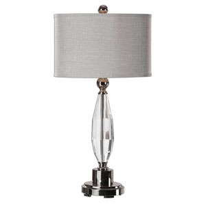 Torlino Clear Cut Crystal One-Light Table Lamp