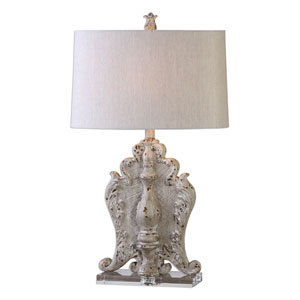 Triversa Taupe Gray One-Light Table Lamp