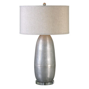Tartaro Burnished Industrial Silver One-Light Table Lamp