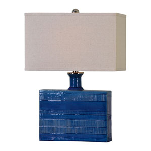 Piota Distressed Blue One-Light Table Lamp