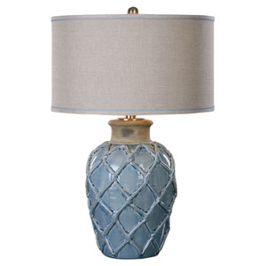 Parterre Pale Blue One-Light Table Lamp