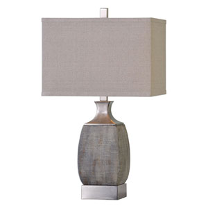 Caffaro Textured Rust Bronze One-Light Table Lamp