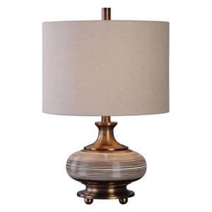 Strona Rust Bronze One-Light Table Lamp