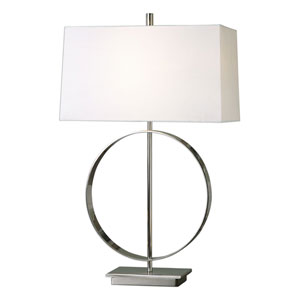Addison Plated Polished Nickel One-Light Table Lamp