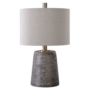 Duron Dark Rustic Bronze One-Light Table Lamp