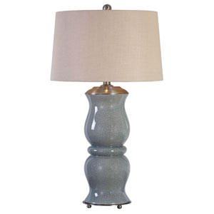 Cannobino Crackled Pale Blue One-Light Table Lamp
