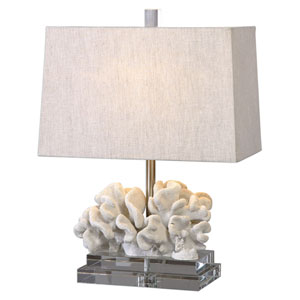 Coral Ivory Sculpture Table Lamp