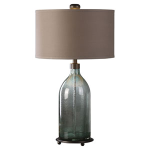 Massana Gray Glass Table Lamp