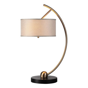 Vardar Curved Brass Lamp