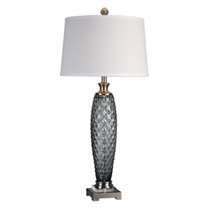 Lonia Gray Glass Lamp