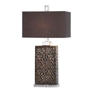 Olavo Etched Dark Bronze Lamp