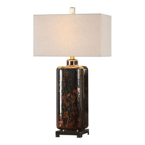 Vanoise Bronze Mercury Glass Lamp