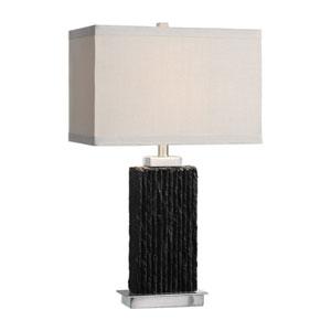 Pravus Black Slate Table Lamp