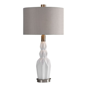 Cabret Gloss White Ceramic Table Lamp