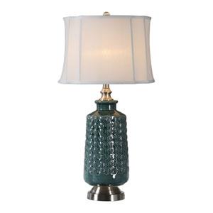 Vallon Dark Blue-Green Lamp