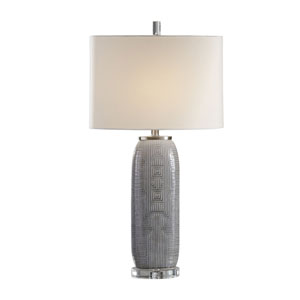 Ravi Gray Patterned Lamp