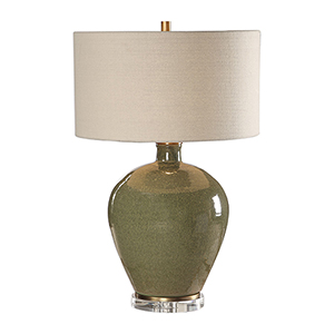 Elva Emerald One-Light Table Lamp