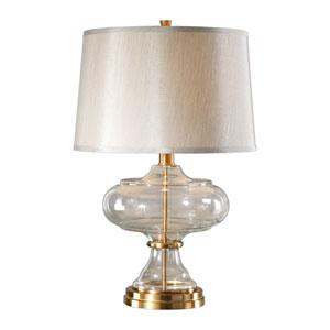 Jelani Glass and Brass Lamp