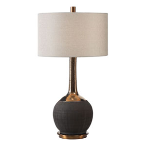 Arnav Textured Black Lamp