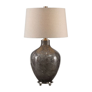 Adria Transparent Gray Glass Lamp