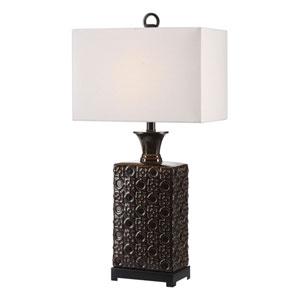 Bertoia Black Patterned Lamp