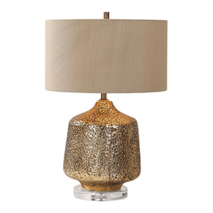 Galaxia Metallic Gold One-Light Table Lamp