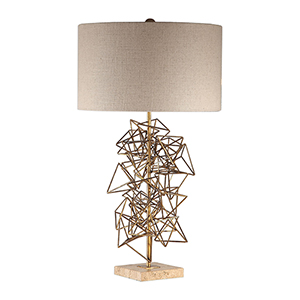 Vasaya Gold Abstract One-Light Table Lamp
