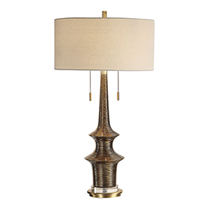 Galatea Antique Gold Two-Light Table Lamp