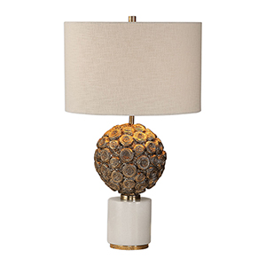Taro Aged Gold One-Light Table Lamp