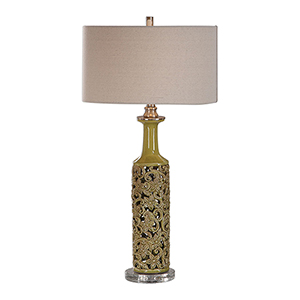 Nellie Yellow-Green One-Light Table Lamp