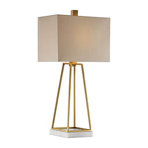 Mackean Metallic Gold One-Light Table Lamp
