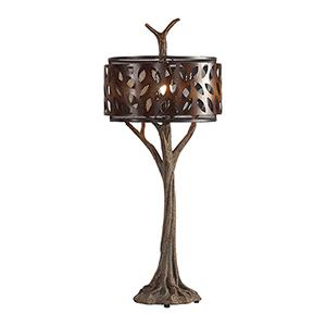 Tremula Antique Rustic Bronze One-Light Table Lamp