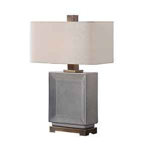 Abbot Crackled Gray One-Light Table Lamp
