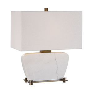 Genessy White Marble One-Light Table Lamp