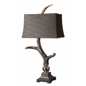 Stag Horn Dark Shade Lamp