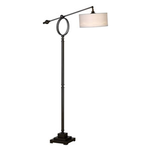 Levisa Brushed Dark Bronze One-Light Table Lamp