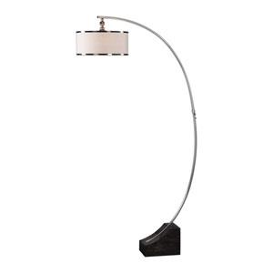 Kelcher Nickel Arc Floor Lamp